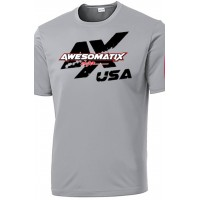 Silver Awesomatix USA Breathable T-Shirt - 2XL