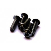 Hiro Seiko AL Hex Socket Button Head Screw M3x6 [Black]