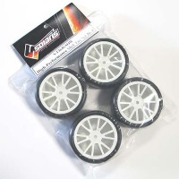Solaris 1/10th 36J Pre-Mount Rubber Tires