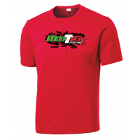Mon-Tech Racing USA Breathable Red T-Shirt - Large